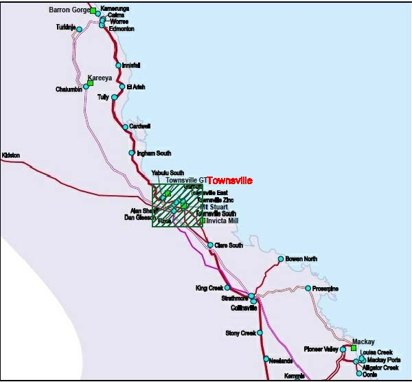 Regions for nuclear power reactors in north Queensland